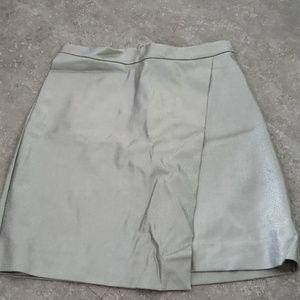 H&M sliver mini skirt